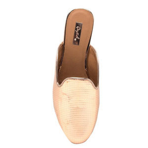 Shoes - Moving Sale! Metallic Rose Gold Mules